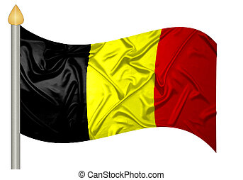 Belgian flag with ripples