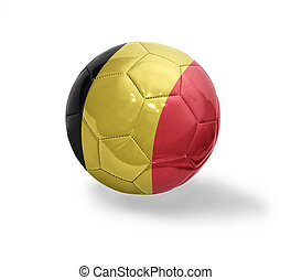 Belgian Football - Football ball with the national flag of ...
