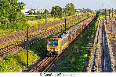 Belgian freight train in Strasbourg - Alsace, France