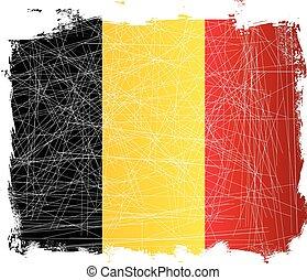 Belgian  Grunge Flag