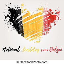 Belgian national day holiday - Holiday background for...