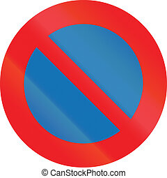 Belgian regulatory road sign - No parking.