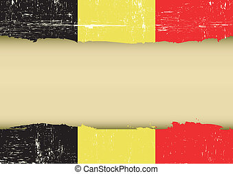 Belgian scratched flag