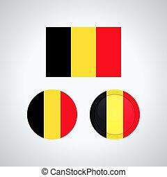 Belgian trio flags, vector illustration - Flag design....