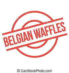 Belgian Waffles rubber stamp