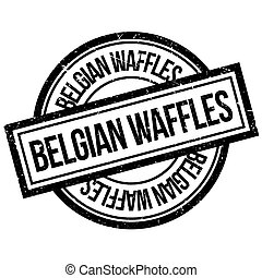 Belgian Waffles rubber stamp. Grunge design with dust ...