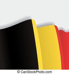 Belgian waving Flag. Vector illustration.