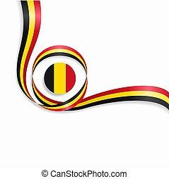 Belgian wavy flag background. Vector illustration.