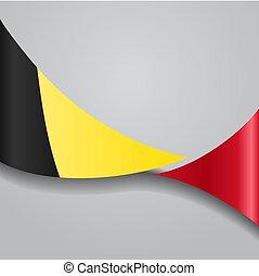 Belgian wavy flag. Vector illustration. - Belgian flag wavy ...