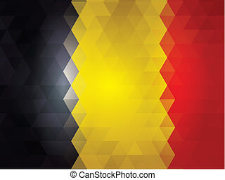 Belgica Flag of vector