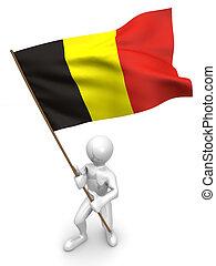 belgie, flag., mannen