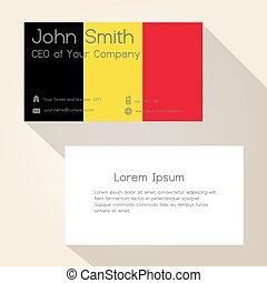 belgie znamení, barva, business card, design, eps10