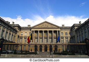 belgio, casa, parlamento, bruxelles