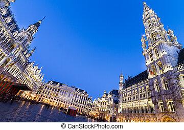 belgio, europe., bruxelles, markt, grote