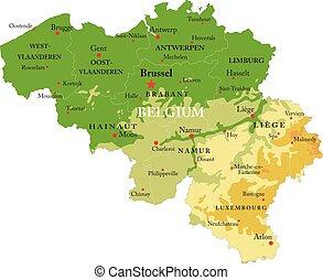 belgio, mappa sollievo