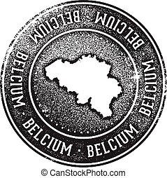 belgio, paese, viaggiare, francobollo