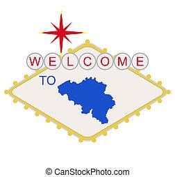 belgio, segno benvenuto