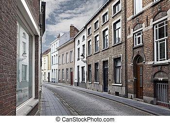belgique, bruges, rues