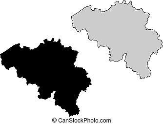 belgique, carte