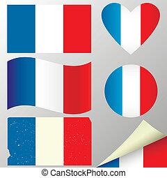 belgique, drapeaux, set.