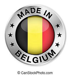 belgique, fait, écusson, argent
