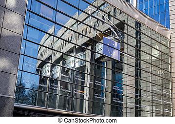 belgique, -, parlement, bruxelles, européen