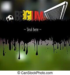 belgique, portail, boule football
