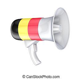 belgisk, flag., högtalare
