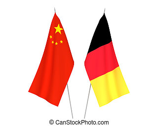 Belgium and China flags