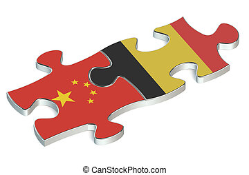 Belgium and China puzzles from flags