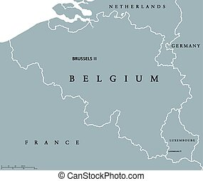 belgium and luxembourg political map