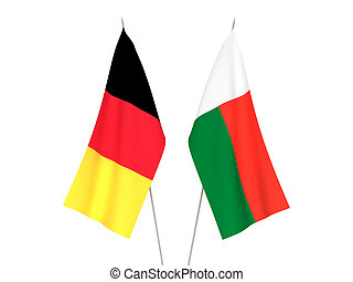 Belgium and Madagascar flags - National fabric flags of ...