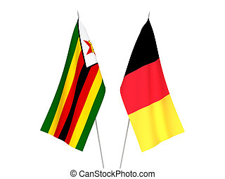 Belgium and Zimbabwe flags - National fabric flags of ...