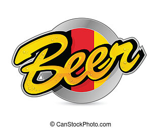 Belgium Beer poster sign seal illustration design over a...