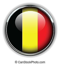 Belgium button - Belgium flag button