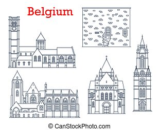 Belgium cathedrals, architecture landmarks, travel