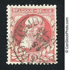 King Leopold II - BELGIUM - CIRCA 1863: stamp printed by ...