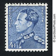 Leopold III - BELGIUM - CIRCA 1936: stamp printed by Belgium...