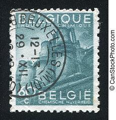 Chemical Industry - BELGIUM - CIRCA 1947: stamp printed by...