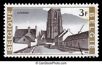 church in the small village of Lissewege, Belgium