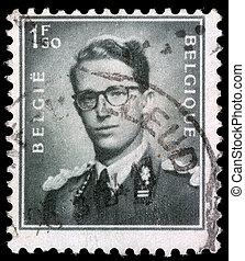 BELGIUM - CIRCA 1970: A stamp printed in Belgium shows King...