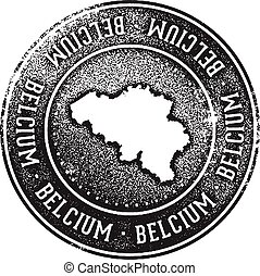 Belgium Country Travel Stamp
