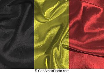 Belgium flag 3D illustration symbol