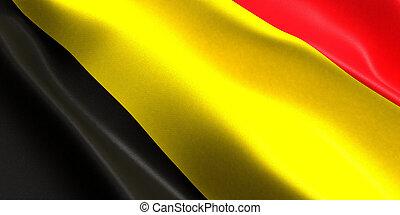 belgium flag 3d