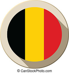 Belgium Flag Button Icon Modern