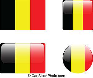 Belgium flag & buttons