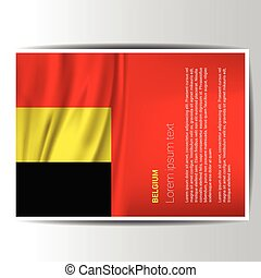 Belgium flag design vector