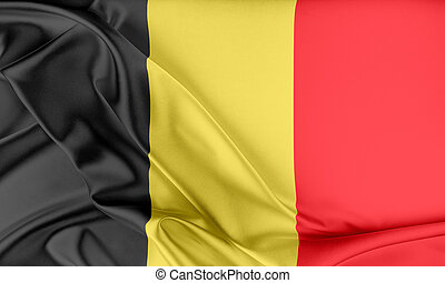 Belgium Flag. Flag with a beautiful glossy silk texture.