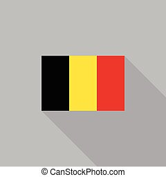 Belgium flag flat design vector illustration