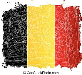 Belgium Flag Grunge